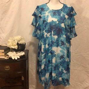 Calvin Klein floral dress size 16